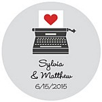 Typewriter Favor Tag Design