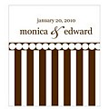 Chocolate-stripes label color