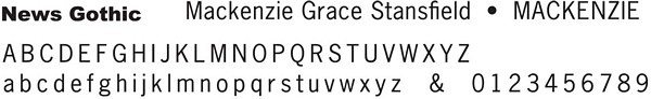 News Gothic font