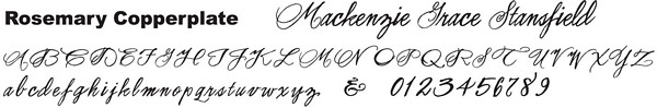 Rosemary Copperplate font