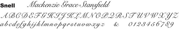 Snell font