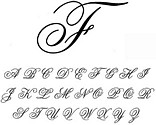 Comliment with Florentine Cursive or Formal Script font