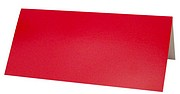 Red Glossy Place Card Color