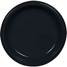 Black plastic dessert and dinner plate color