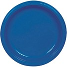 Blue plastic dessert and dinner plate color