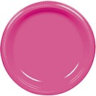 Bright Pink plastic dessert and dinner plate color