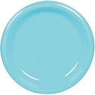 Carribean plastic dessert and dinner plate color