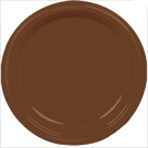 Brown plastic dessert and dinner plate color