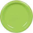 Kiwi plastic dessert and dinner plate color