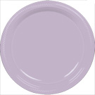 Lavender plastic dessert and dinner plate color