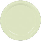 Leaf Green plastic dessert and dinner plate color