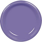 Purple plastic dessert and dinner plate color
