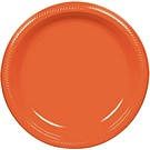 Orange dessert and dinner plate color