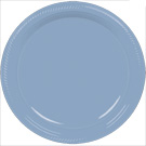Pastel Blue plastic dessert and dinner plate color