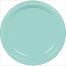 Robin's Egg plastic dessert and dinner plate color
